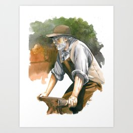Bethabara Blacksmith Art Print