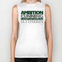 slytherin Biker Tanks featuring Slytherin by Fanboy's Canvas