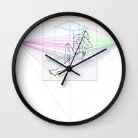 sandra dieckmann Wall Clocks featuring Sandra by MENAGU'