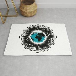 Carbon Footprint Earth Border Rug