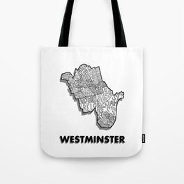 Westminster - London Borough - Detailed Tote Bag