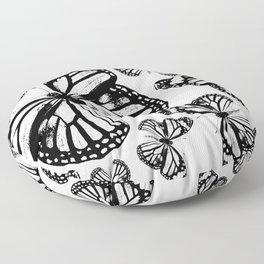 Monarch Butterflies | Monarch Butterfly | Vintage Butterflies | Butterfly Patterns | Black and White Floor Pillow