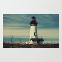 lighthouse Area & Throw Rugs featuring Lighthouse by Yellowstone Photo Studio