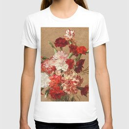 Henri Fantin Latour - Carnations Without Vase T-shirt
