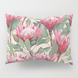 Painted King Proteas on cream Pillow Sham