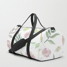 Simple and stylized flowers Duffle Bag
