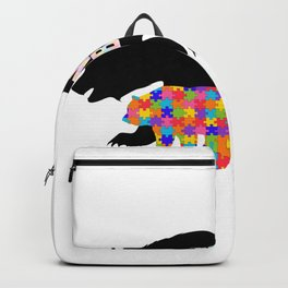 Mama Bear Autism Awareness Support Backpack