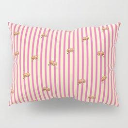 Stripes and Dahlias Pillow Sham