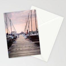 Sunrise at Northport Marina Stationery Cards