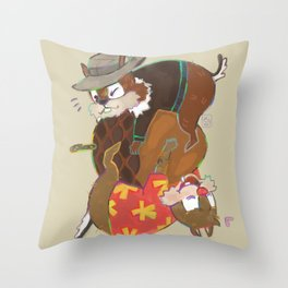 nutty love Throw Pillow