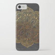Wood Mandala - Gold Slim Case iPhone 7