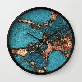 GEMSTONE  & GOLD AQUA Wall Clock
