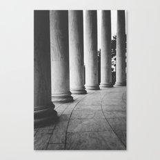 Dark Columns Canvas Print