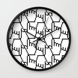 Geeky Pattern Wall Clock