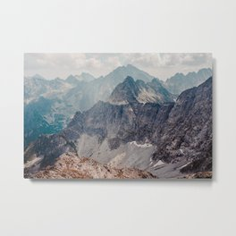 Jagged peaks and rocky slopes in The Tatra Mountains Metal Print