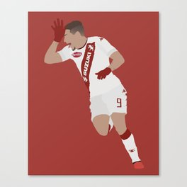 Andrea Belotti Torino Red Print Canvas Print