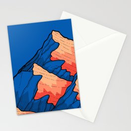 The deep blue peaks Stationery Cards