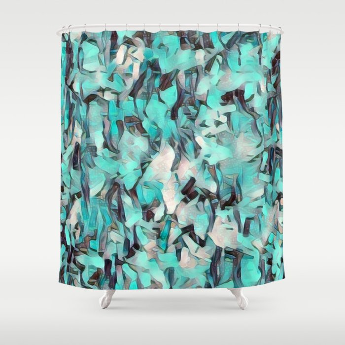 Confetti Caribbean Aqua Shower Curtain By Laurenwdesign