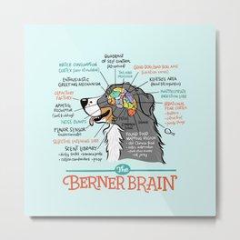 Berner Brain - Blue Metal Print