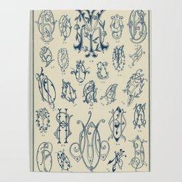Ornate lettering pattern Poster