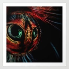 Crystal Ball Cat Art Print