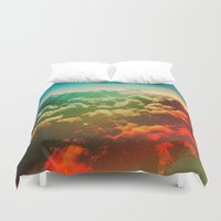 phil jones Duvet Covers featuring Pilot Jones by Polishpattern