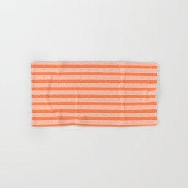 Living Coral Color Doodle Stripes Hand & Bath Towel