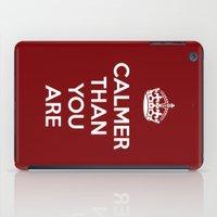 lebowski iPad Cases featuring Keep Calm Lebowski by D-fens