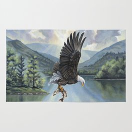 Eagle with Fish Rug