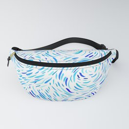 Dashed Waves Fanny Pack