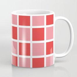 Modern Checkers (red tiles) Coffee Mug