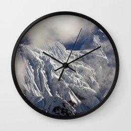 Mountaintop from Upper Pisang Wall Clock