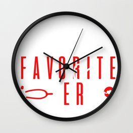 Christmas Break Santa's Favorite ER Tech Christmas Gift Emergency Room Tech Wall Clock