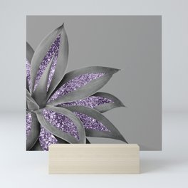 Agave Finesse Glitter Glam #4 #tropical #decor #art #society6 Mini Art Print