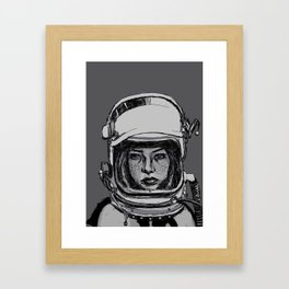 Space Woman Framed Art Print