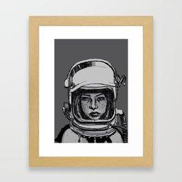 Space Woman Framed Art Print