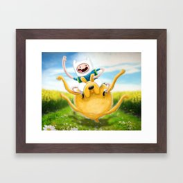 Finn & Jake on an ADVENTURE... Framed Art Print