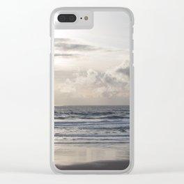 Silver Scene Clear iPhone Case