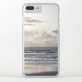 Silver Scene Clear iPhone Case