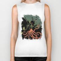 scuba Biker Tanks featuring tentacle scuba by Sarah Baslaim