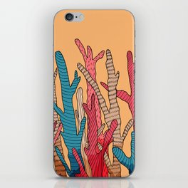 The tall coral iPhone Skin