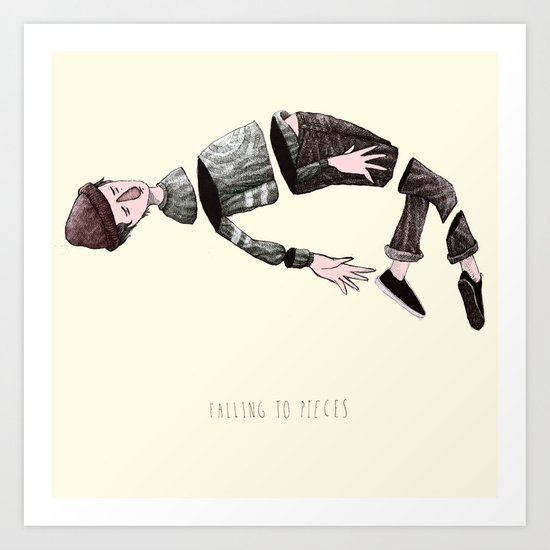 falling to pieces Art Print