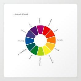 A Visual Study of Sherlock Art Print