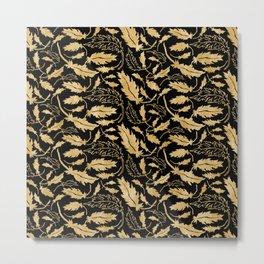 Gold leaf. Metal Print