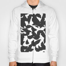 Black Bird Wings on White Hoody