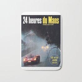 Le Mans, 24hs Le Mans 1971, vintage poster, Le mans t-shirt Bath Mat