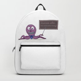 Octopus as a businessman and his business plan Backpack