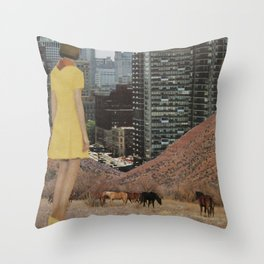 Ladies in Chicago Throw Pillow