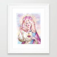 dolly parton Framed Art Prints featuring Saint Dolly Parton  by DirtyLola