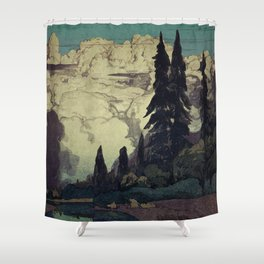 The Pending Storm at Hike Shower Curtain